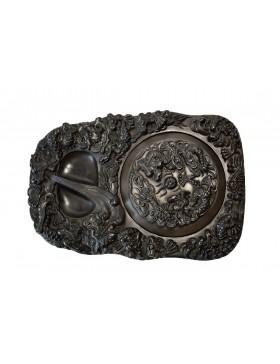 Piedra de entintar con nueve dragones