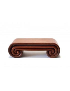 Set de tres camitas de madera natural para tinta en barra
