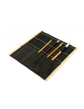 Black bamboo brush wrap