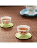 Set of hand painted oriental teacups