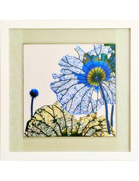 Blue lotus leaves