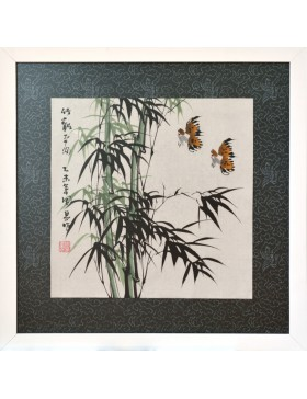 Bamboo forest and birds