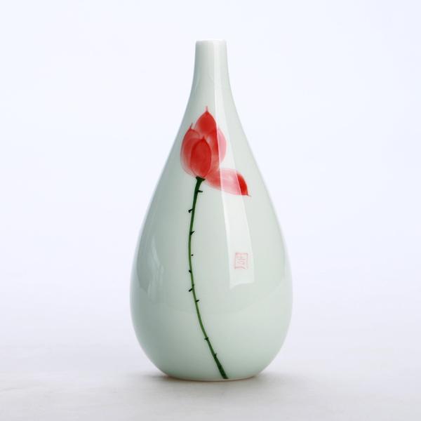 Oriental hand painted mini ceramic flower vase 08