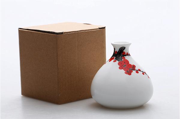 Mini floreros de cerámica oriental pintados a mano 11