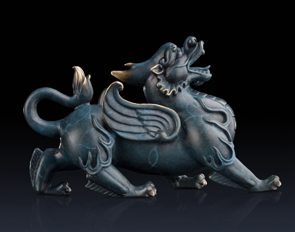Statue of Pixiu: Oriental mythological creature that attracts abundance 02