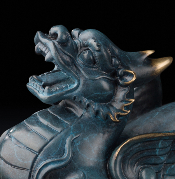 Statue of Pixiu: Oriental mythological creature that attracts abundance 05