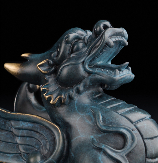 Statue of Pixiu: Oriental mythological creature that attracts abundance 06