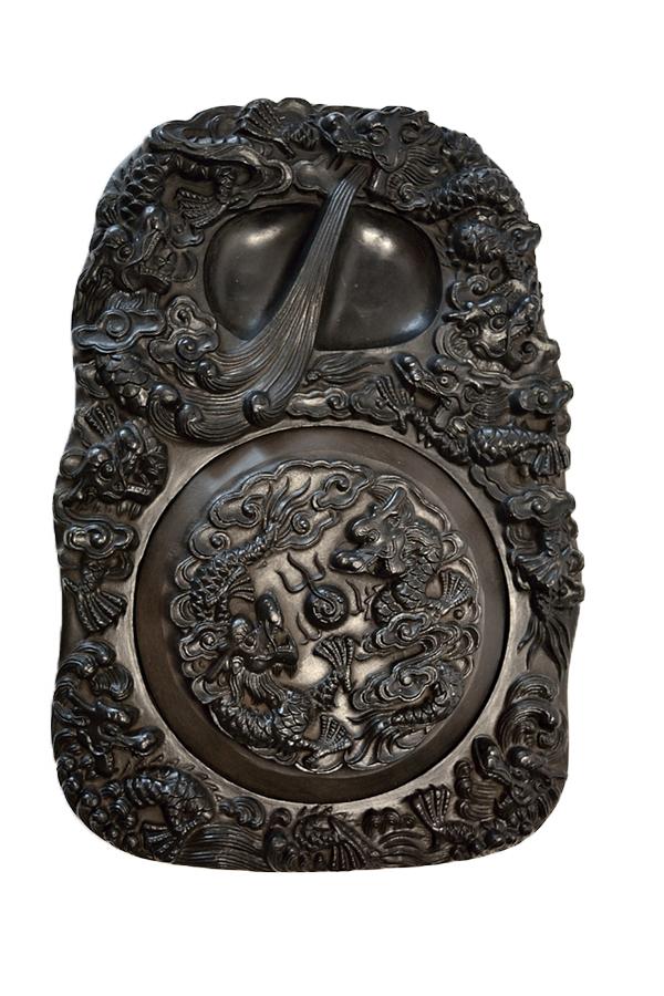 Piedra de entintar con nueve dragones 02