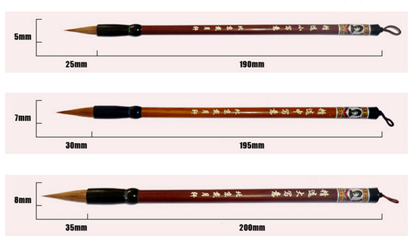 Special selection of painting brushes 01