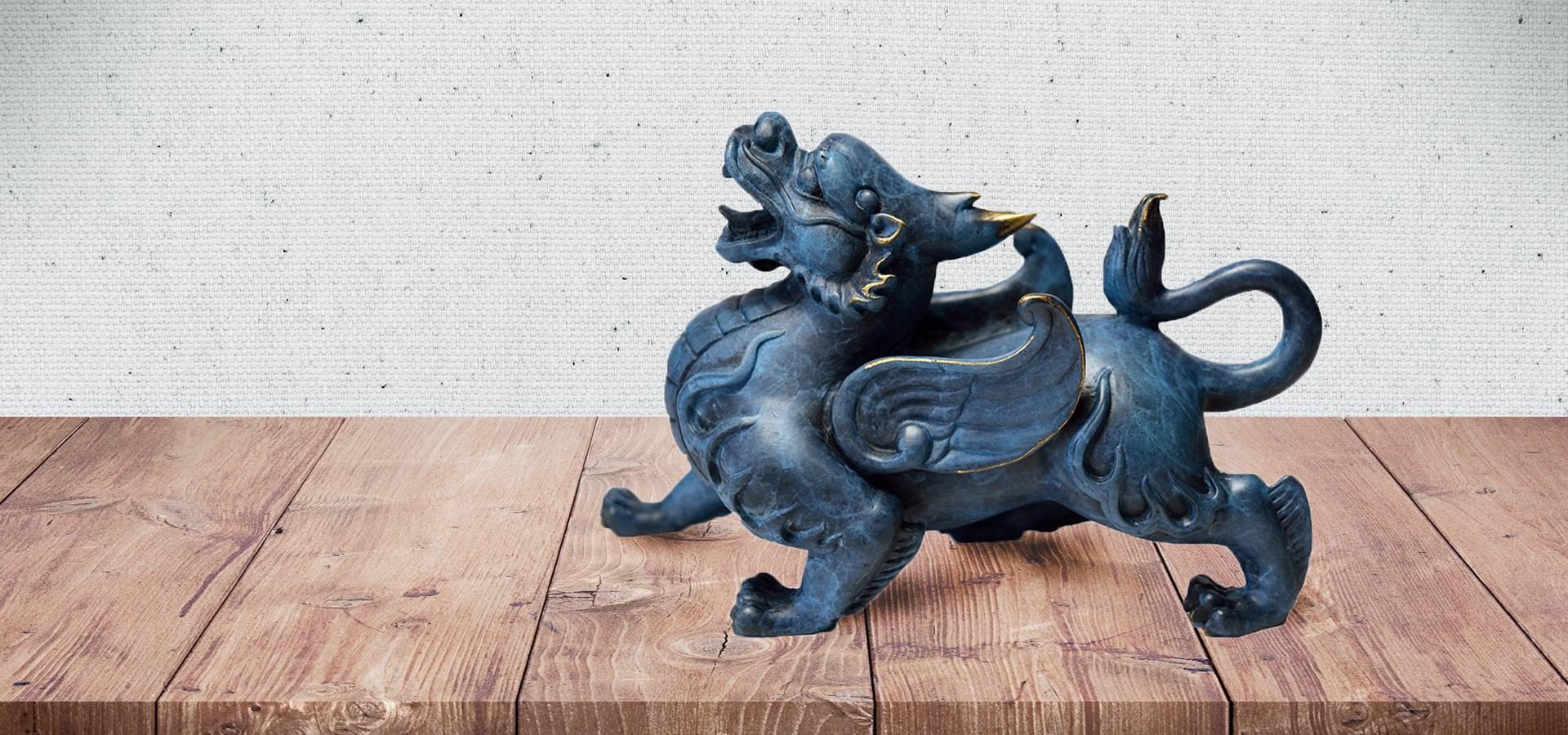 Artesanía oriental: estatua de Pixiu