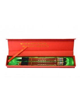 Explosión de colores: pack de cuatro pinceles finos
