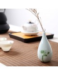 Oriental hand painted mini ceramic flower vase