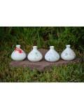 Mini floreros de cerámica oriental pintados a mano