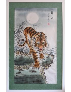 Tiger descending the mountain