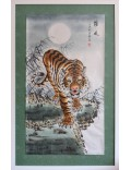 Tigre bajando la montaña