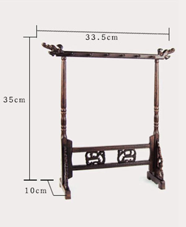 Colgador de madera natural para pinceles 01