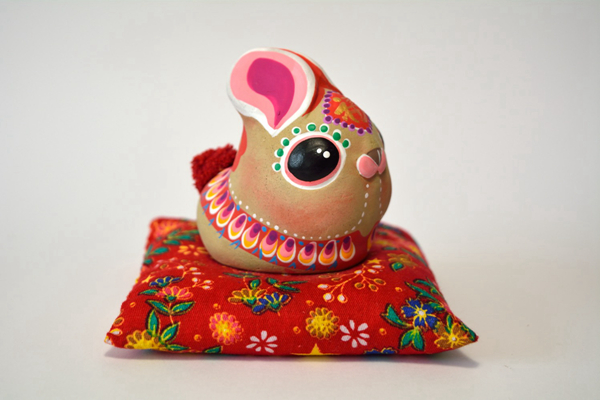 Blessings of the twelve Chinese horoscopes: artisanal clay miniatures 04