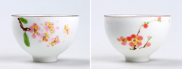 Set of hand painted oriental teacups 02