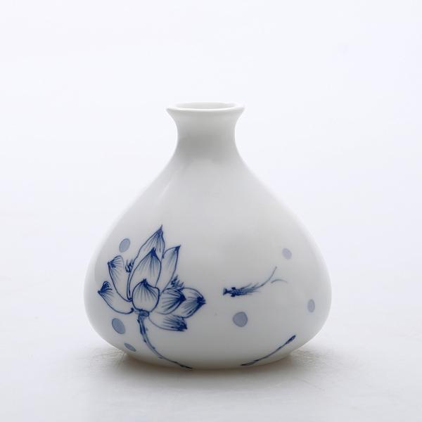 Mini floreros de cerámica oriental pintados a mano 01