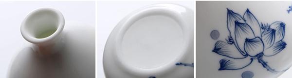 Mini floreros de cerámica oriental pintados a mano 02