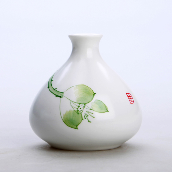Oriental hand painted mini ceramic flower vase 03
