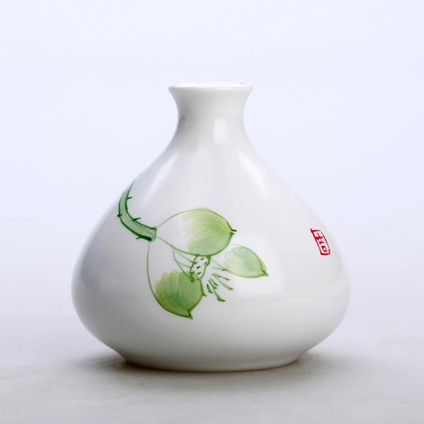 Mini floreros de cerámica oriental pintados a mano 03