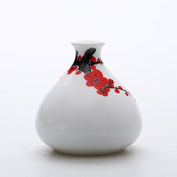 Mini floreros de cerámica oriental pintados a mano 04