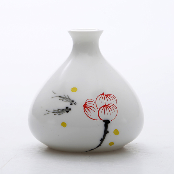 Oriental hand painted mini ceramic flower vase 05