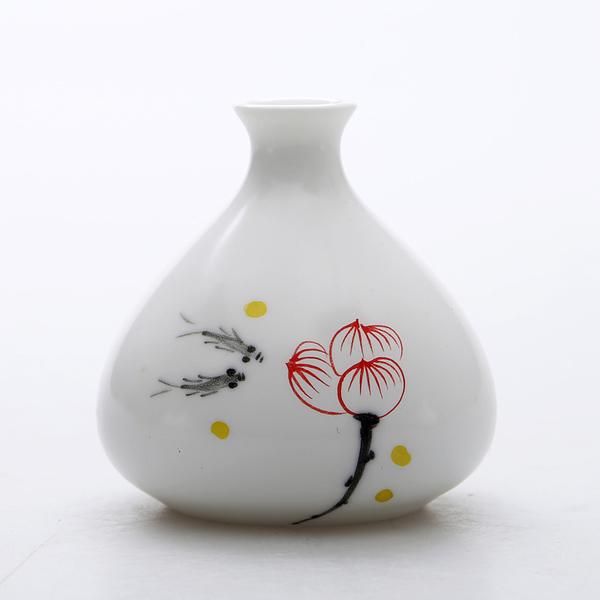 Mini floreros de cerámica oriental pintados a mano 05