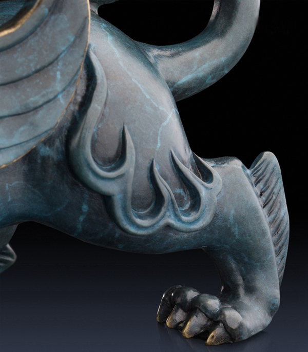 Statue of Pixiu: Oriental mythological creature that attracts abundance 07