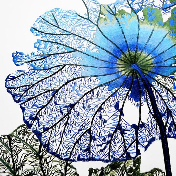 Blue lotus leaves 01