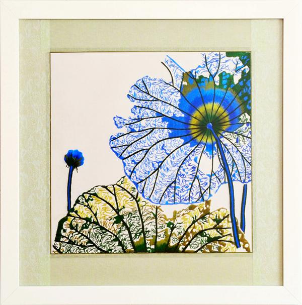 Blue lotus leaves 03
