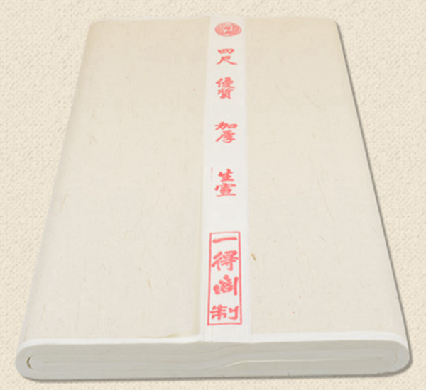 Bark of mulberry tree: Extra thick high quality raw Xuan paper 02