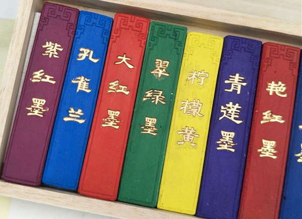 Chinese ink bar in twelve colours 01