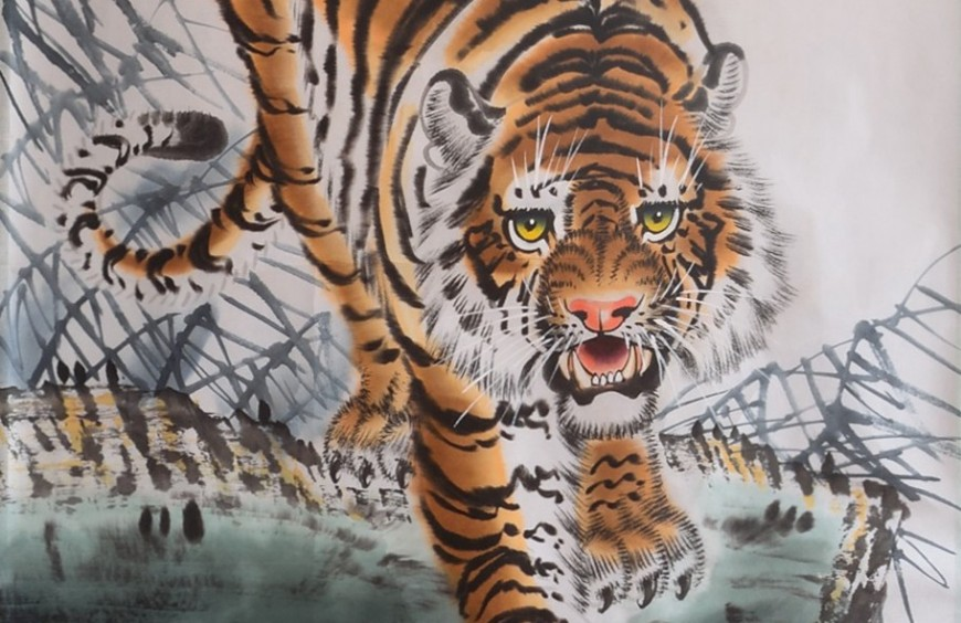 Feng Shui in oriental painting: the tiger
