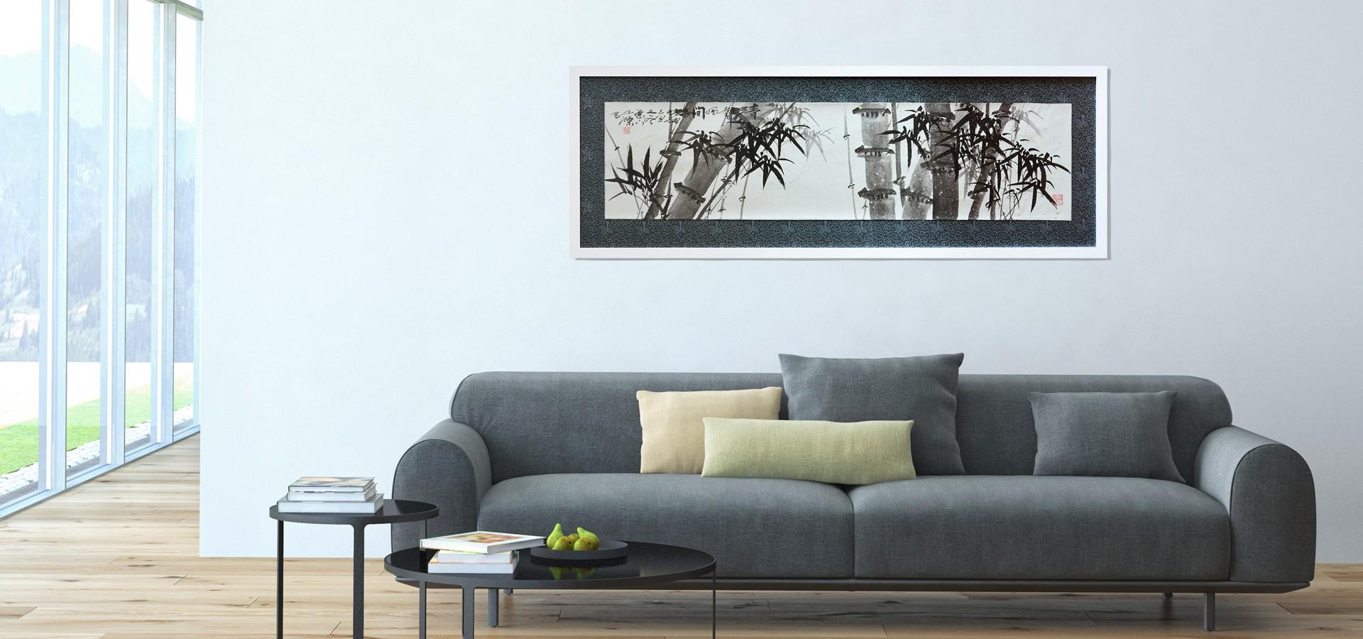 Pintura oriental: Sonidos y brisas en el bosque de bambú